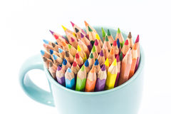 Color pencil in the cup Stock Photo