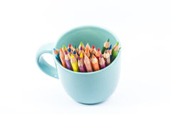 Color pencil in the cup Stock Images