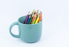 Color pencil in the cup Stock Image