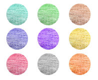 Color pencil designs set Royalty Free Stock Images