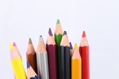 Color pencil. Diferents color pencil in a white background Royalty Free Stock Photo