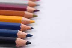 Color pencil. Diferents color pencil in a white background Stock Photography