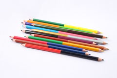 Color pencil. Diferents color pencil in a white background Royalty Free Stock Image