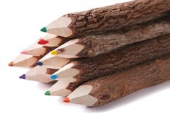 Free Color Pencil Drawing Of A Wooden Logs Macro Isolated Royalty Free Stock Image - 53699356