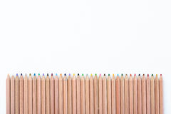 Color Pencil Fence stock photo