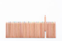 Color Pencil Fence Stock Photography