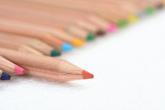 Color Pencil Fence Stock Image
