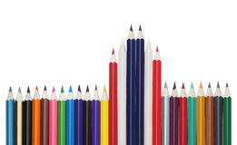 Color pencil flag this thailand Stock Photography
