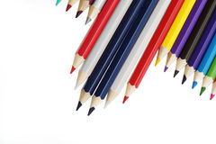 Color pencil flag this thailand. With thai political Royalty Free Stock Photo