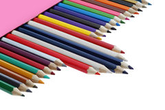 Color pencil flag this thailand Stock Photos
