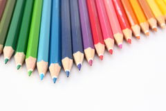 Color pencil on the floor arrow stock photos