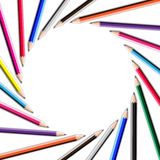 Color pencil frame Royalty Free Stock Images