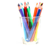 Color pencil in glass Royalty Free Stock Images