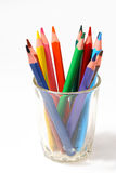 Color pencil in glass Royalty Free Stock Photo