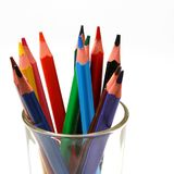 Color pencil in glass Stock Photography