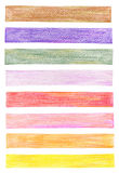 Color pencil graphic elements. Set of color pencil graphic elements Royalty Free Stock Photography