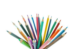 Color pencil group. The color pencil group about creative concept Stock Photos