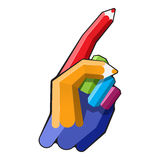 Color pencil hand Royalty Free Stock Images