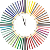 Color pencil hours Royalty Free Stock Image
