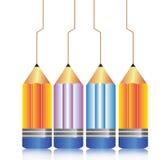 Color pencils illustration Stock Photos