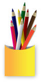 Color Pencil. Illustration of color pencil is  on white background Stock Photo