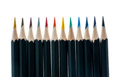 Color pencil isolate on white Royalty Free Stock Photo