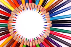 Color pencil isolated. On white stock photo