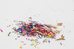 Color Pencil Leftover. Pieces of Color Pencil Leftover Royalty Free Stock Photo