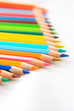 Color Pencil Line Up Royalty Free Stock Photo