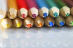 Color pencil pallete Stock Images