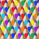 Color pencil pattern. The color pencil seamles pattern Royalty Free Stock Photo