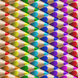 Color pencil pattern Royalty Free Stock Image
