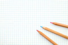 Color pencil. S on graph paper Royalty Free Stock Photography