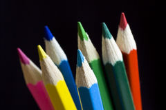 Color pencil. Pencils with path. stock photos
