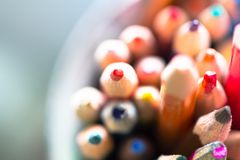 Color pencil pile as creativity concept royalty free stock photography