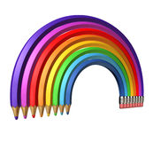 Color Pencil Rainbow Royalty Free Stock Photography
