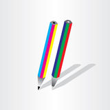 Color pencil rgb cmyk Royalty Free Stock Photography