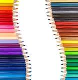 Color pencil in row Stock Image