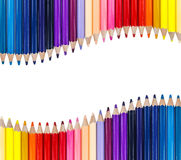 Color pencil in row Stock Photography