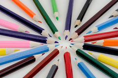 Color pencil for school Royalty Free Stock Images