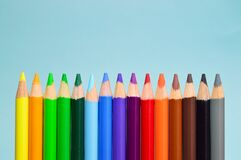 Color Pencil Set Royalty Free Stock Photography