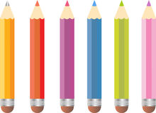 Color pencil set Royalty Free Stock Photo