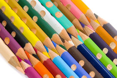 Color pencil set. On isolated white background Royalty Free Stock Image