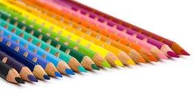 Color pencil set. On isolated white background Royalty Free Stock Photos