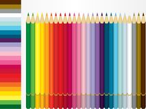 Color Pencil Set and shade sample Stock Images