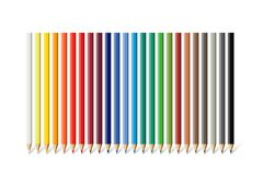 Color pencil set. Vector different color pencils isolated on white background. Color pencil set. Vector different color pencils isolated on white background Royalty Free Stock Images