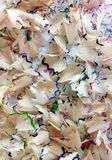 Color Pencil Shavings Stock Photo