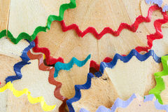 Color pencil shavings Stock Photography