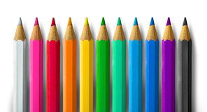 Color pencil spectrum Stock Image