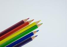 Color Pencil Spectrum Stock Photos